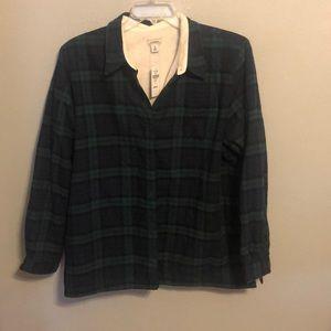 L.L.Bean Plaid jacket / Shirt sz XL
